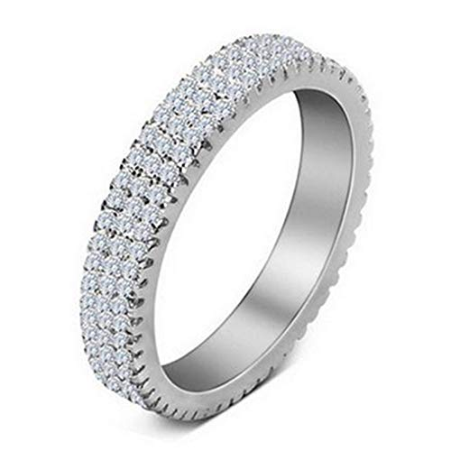 christmas 925 Sterling Silver Band eternity Ring for Wedding Engagement luxury ring finger wholesale Jewelry R721S (O)