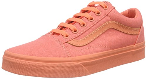 Vans Old Skool, Unisex Sneakers, Orange (mono/fusion Coral), 38 EU (6 US)
