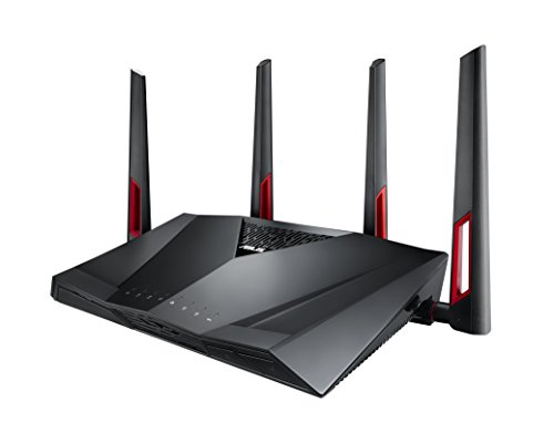 ASUS AC3100 WiFi Gaming Router (RT-AC88U) - Dual Band Gigabit Wireless Router, WTFast Game Accelerator, Gaming & Streaming, AiMesh Compatible, Free Lifetime Internet Security, Adaptive QoS, MU-MIMO