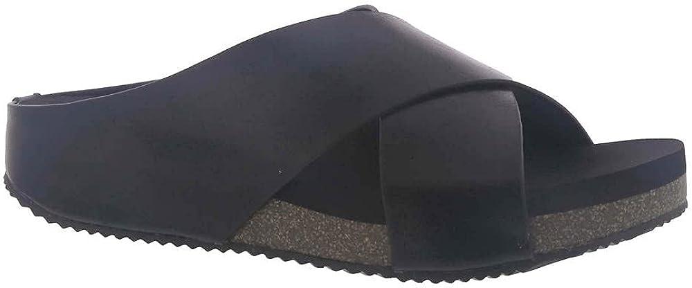 Volatile Women's Ablette Criss Cross Leather Sandal Wedge