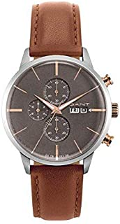 Gant Asheville Men'S Grey Dial Leather Band Watch - G Gww063002