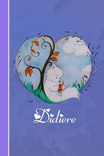 Didiere: Cahier personnalisé | Fox avec coeur | Couverture souple | 120 pages | vide | Notebook | Journal intime | Scrapbook | idée cadeau