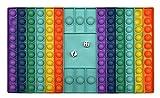 CRAZYCHIC - Pop It Gigante con Dados Fidget Toys - Popit XXL Grande Push Bubble Juguetes Niños Barato - Juegos Antiestres Dice Game Hijos Adultos - Burbujas Multicolor Arco Iris Regalo - Rectángulo