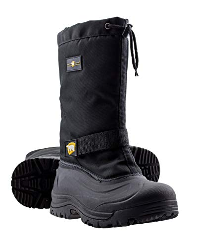 ArcticShield Mens Cold Weather Waterproof Durable Insulated Winter Snow Boots (11 (M) US Mens) Black