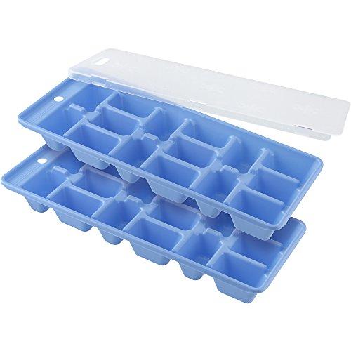 FACKELMANN Eiswürfelformer 2-TLG, mit Deckel, Kunststoff