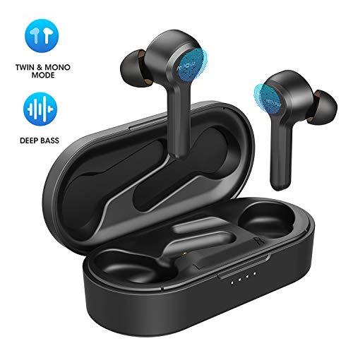 Mpow Cuffie Bluetooth, Auricolari Wireless IPX7 Impermeabili,Modalità Mono/Twin, Autonomia 30 Ore,Bassi Potenziati, Microfono, Auricolari Senza Fili Sport con Ricarica USB-C per Lavoro e Viaggio