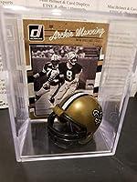 Archie Manning New Orleans Saints Mini Helmet Card Display Collectible Case Auto Shadowbox Autograph