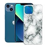 KJYF Funda para Apple iPhone 13 (6.1'), Premium Gel Protector Bumper Caso Case, Transparente Silicona Suave TPU Carcasa, Anti-Arañazos Fina Fundas para Apple iPhone 13 - Canica