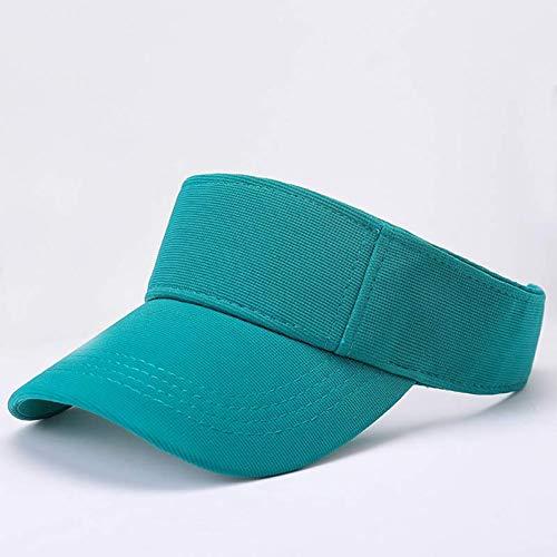 PKYGXZ Summer Sun Visor Caps Laufen Tennis Golf Visier Hüte Sportlicher Stil Schwarz Weiß Königsblau Khaki Dusty Pink Türkisrot