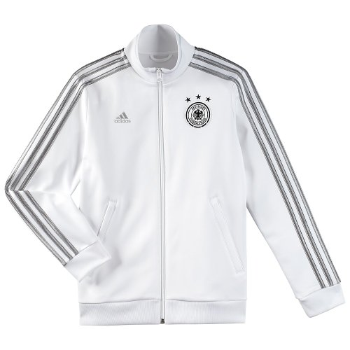 adidas Boy's Deutscher Fussball-Bund Germany Soccer Track Jacket, White, XL