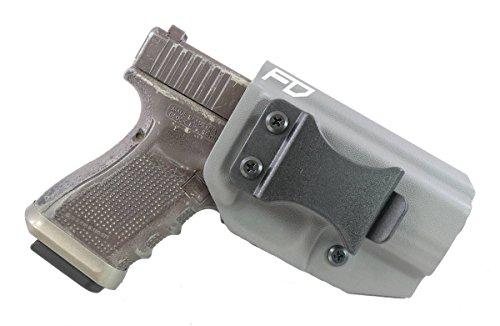 Fierce Defender IWB (Inside Waistband) Kydex Holster Glock 19 23 32'Winter Warrior Series -Made in USA- (Gunmetal Grey) GEN 5 Compatible!