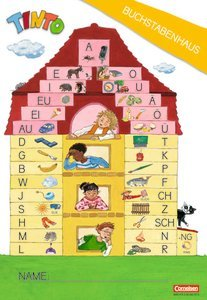 """TINTO 1 und 2. Zu allen Neubearbeitungen. 1. Schuljahr. Lauttabelle \""""Buchstabenhaus\"""" (strukturiert). 10 Stück im Beutel"""