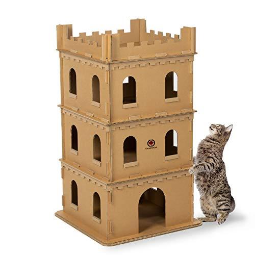 CanadianCat Company ® | Katzenburg XL aus Wellpappe für Katzen - das Spielhaus