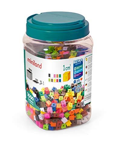 Miniland- Cubos de 1 cm (1.000 Piezas) Juego matemático (95211) , color/modelo surtido