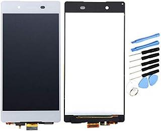 YQZ Sony Xperia Z4 SOV31 SO-03G Z3 Plus E6553 E6533 E5663 修理交換用フロントパネル LCD タッチパネル 液晶パネル(フロントガラスデジタイザ)修理工具セット付き (ホワイト )
