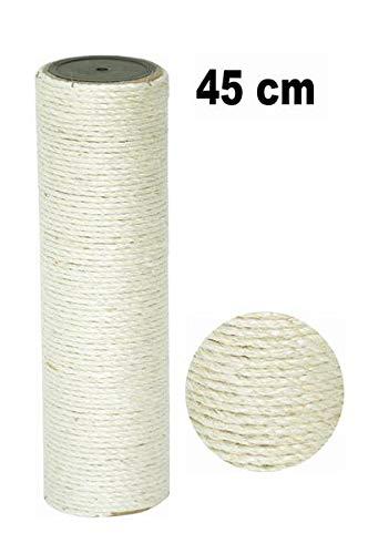 nanook Sisalstamm Ersatzstamm für Kratzbäume - Verschiedene Längen - Durchmesser 9 cm Ø für Gewinde M8 - Länge 45 cm