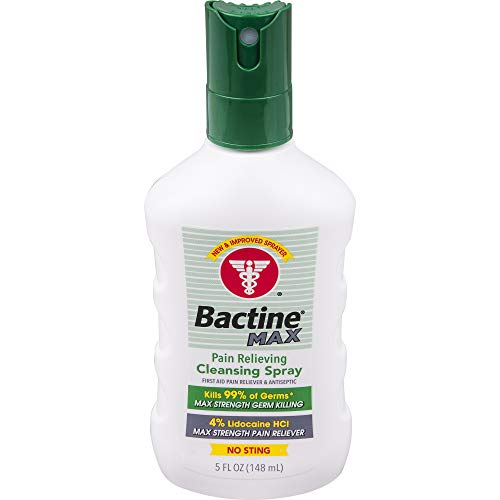 Bactine Bactine Max Pain Relieving Cleansing Spray, White, 5 Ounce