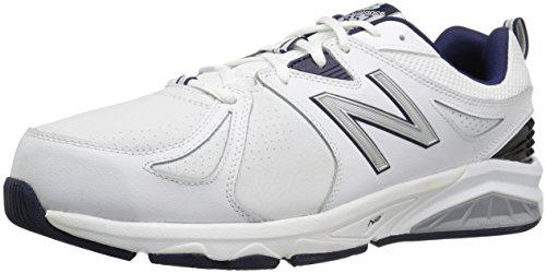 New Balance Men's mx857v2 Casual Comfort Training Shoe, White/Navy, 9.5 D US