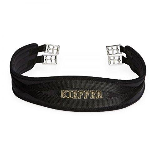 Kieffer Sattelgurt Air-Tex Dressurgurt schwarz verschiedene Längen Kurzgurt mit Rollschnallen , Sattelgurt Länge:70