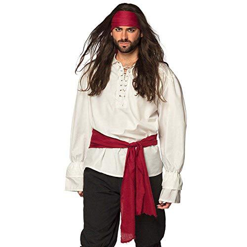 Boland 74125 74125 - Kit de pirata con diadema y faja, color burdeos, pauelo para la cabeza, cinturn, pirata libre, carnaval, fiesta temtica, Halloween, fiesta rpida, unisex, talla nica