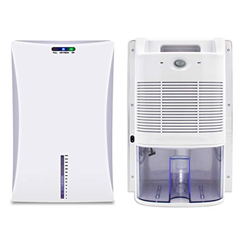 LVYUAN Upgraded Dehumidifier for Home, Dehumidifiers for High Humidity in Basements Bedroom Closet Bathroom Kitchen Small Quiet Portable Electric Small Dehumidifiers with 2000ml (68oz) Water Tank