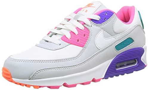 Nike Wmns Air MAX 90, Zapatillas Deportivas Mujer, White Multi, 41 EU