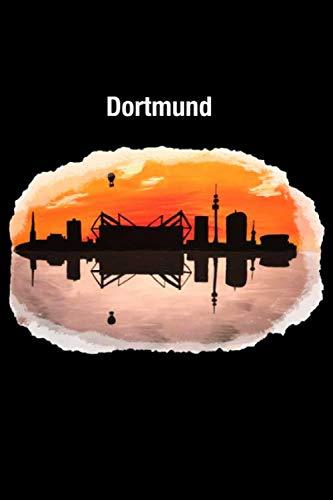 Dortmunder Skyline: 120 Seiten Collegeblock 6x9 kariert