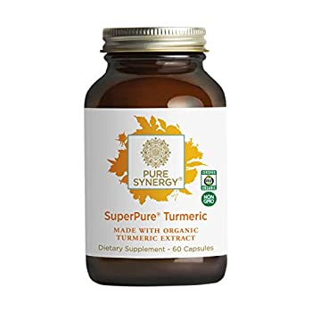 Pure Synergy SuperPure Turmeric Extract | 60 Capsules | Made with Organic Ingredients | Non-GMO | Vegan | with Curcumin for Inflammation Support
