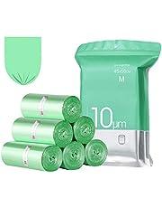 23GUANYI - Bolsas de Basura de Cocina, 20 litros, 4 Rollos con 25 Bolsas Cada uno, Color Verde