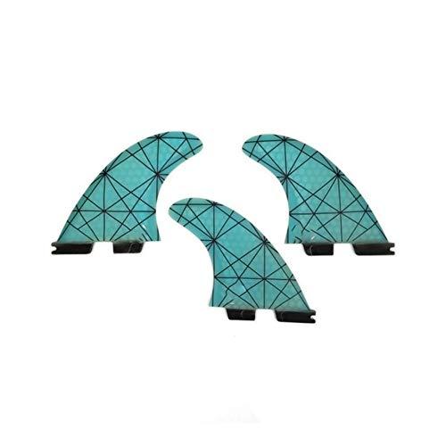 Fins surfen Fins Gelb G5 Surfbrett Flossen Spezialisierte Design-Fins Kapitän Ende Surfen Zwecke (Color : Blue)