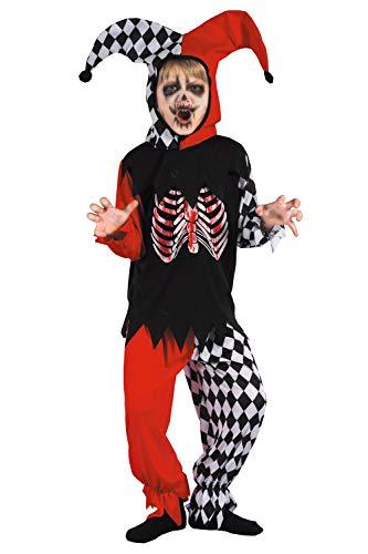 U LOOK UGLY TODAY Boys Halloween Costume Cosplay Clown Joker Child's Dress Up Costumes Party -Medium