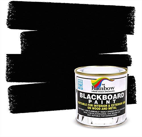 Chalkboard Blackboard Paint - Black 8.5oz - Brush on Wood, Metal, Glass, Wall,...