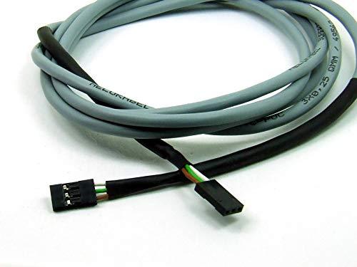 POPESQ® 1 Piezas x Cable Dupont Hembra - Hembra 1.5m Lang 3 Pines 0.25mm² Trenzado Super Flexible Motor Sensor CNC 3D Impresora para Guía de Cadena #A3810