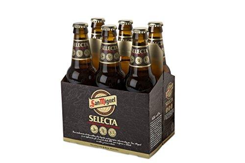 San Miguel - Selecta Cerveza Premium Dorada Lager, 6.2% de Volumen de Alcohol - Pack de 6 x 33 cl