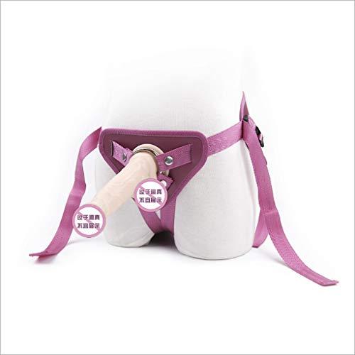 WRZHL Adult Supplies Triangle Chastìty Shorts Weibliche Eisenring Vīrginity Hosen für Ehefrau Ehemann Yoga Straps Jeans (Color : Rose red)
