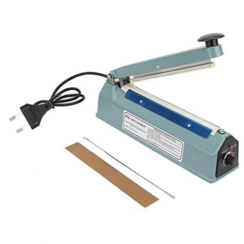 Máquina de sellado por calor Impulse Sealer-8in Metal Heat Sealing Impulse Manual Sellador de la máquina Cierre de bolsa Kit de herramientas de embalaje Enchufe de la UE 220V