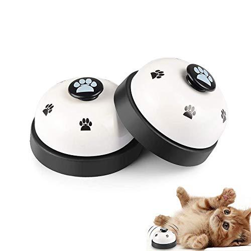 Galaxer Hund Türklingeln, Haustier-Trainingsglocke Tischglocke für Hunde Einstellbare Hundetürklingel für Kleine und Größere Hunde Toilettentraining Glocke Interaktion Glocke EINWEG (Weiß)