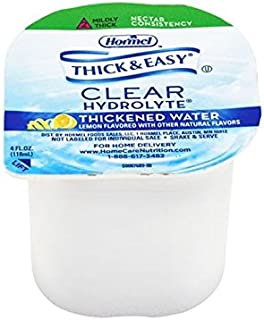 Hormel Thick & Easy Hydrolyte Nectar Consistency Thickened Water 4 Ounce (Pack of 24)