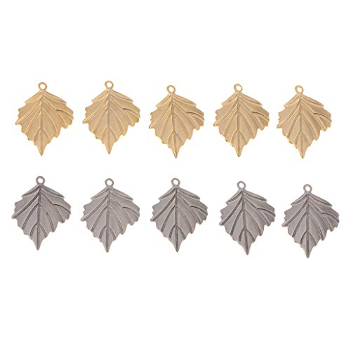 10 Pieces Maple Leaf Charms Pendants Pendants for Jewelry Making
