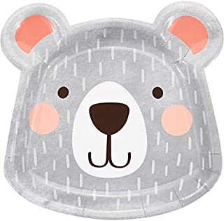 Bear Party Shaped Paper Plates, 24 ct
