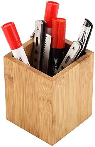 Bambus Stiftehalter Schreibtisch-Aufbewahrungsbox Büro Schule Schreibtisch Stifte Aufbewahrung Organizer Holz Multifunktions-Organizer