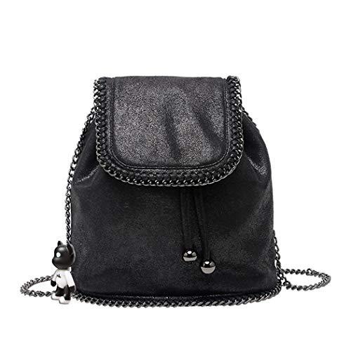 BUKESIYI Women's Backpack Handbags Rucksack Shoulder Bags PU Leather Mini Kawaii Anti-theft CCUK78245 Black