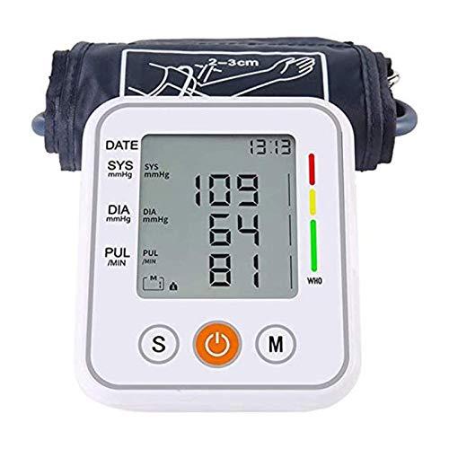 SFLRW Monitor de presión arterial - Máquina automática de la presión de la presión de la presión de la parte superior del brazo del brazalete con la pantalla grande, el latido irregular del corazón y