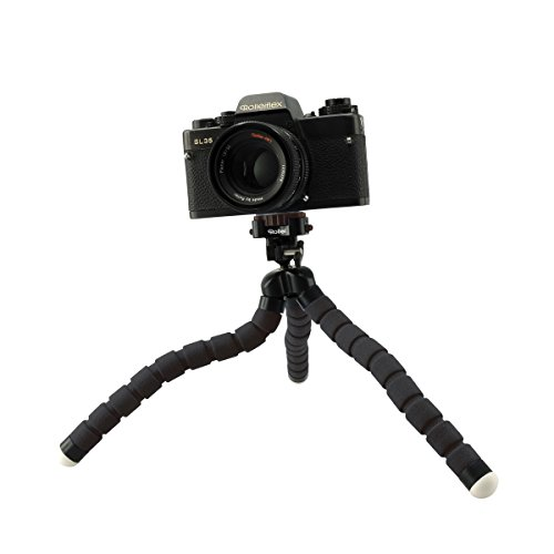 Rollei Monkey Pod | Mini Tripod with Flexible Legs | incl. ball head, non-slip rubber feet and quick-release plate | Red