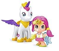 Il personaggio Pinypon stella in sella al suo Unicorno volante attraverserà I cieli I personaggi sono decorati con glitter Le ali dell'unicorno si muovo per davvero Inclusi accessori con cui puoi divertirti a creare molti combinazioni