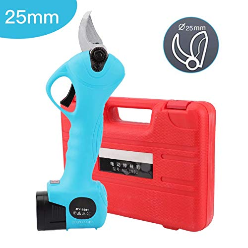 Discover Bargain Naleftright 25mm Cordless Pruning Shears Portable Rechargeable Scissor Tree Branche...