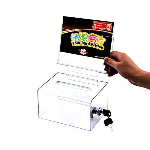 WANLIAN Acrylspendenbox, Wahlurne, empfohlene Box, transparente Aufbewahrungsbox (6,25