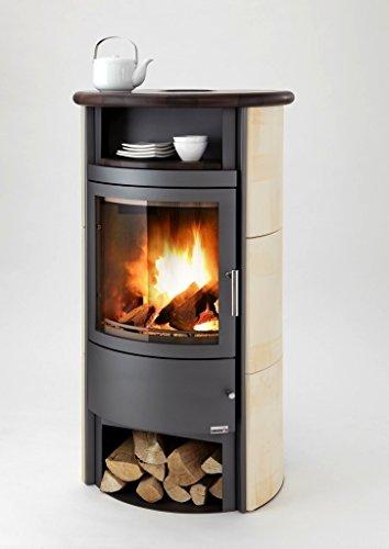 Caminos Kaminofen Heros Keramik grau / Milchkaffee 3-7 kW