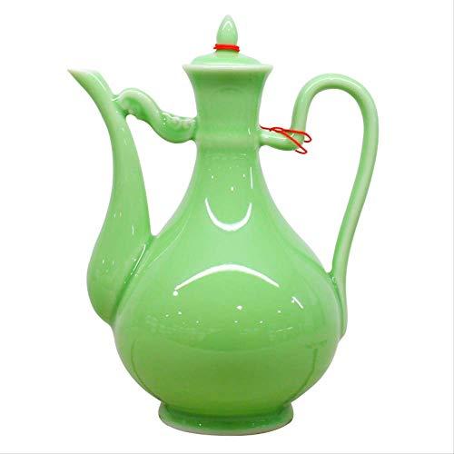 Longquan Qing - Maceta de porcelana china para vino doméstico con jarra de porcelana creativa...