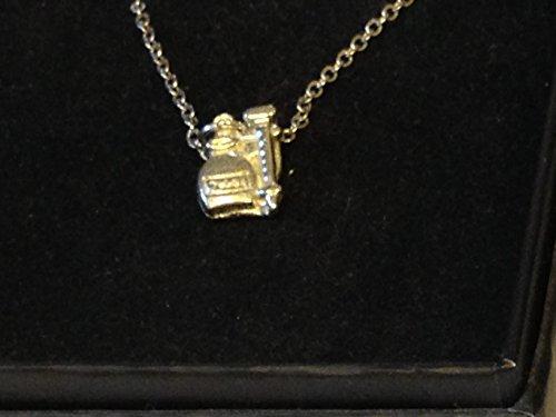 GIFTSFORALL Derbyshire UK TG326 Halskette mit Spritze und Stecknadel aus feinem englischen Zinn auf Einer 45,7 cm versilberten Panzerkette (45,7 cm)